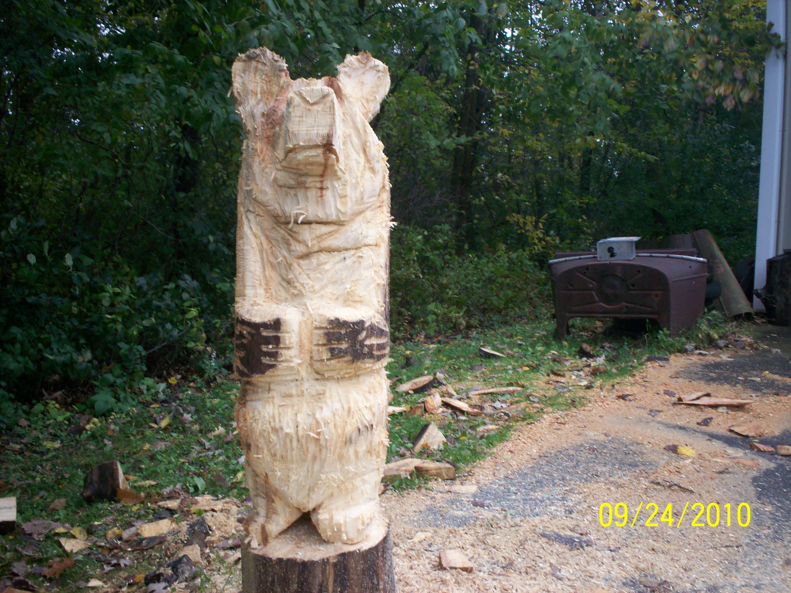 Chainsaw carving jason proms shop creations