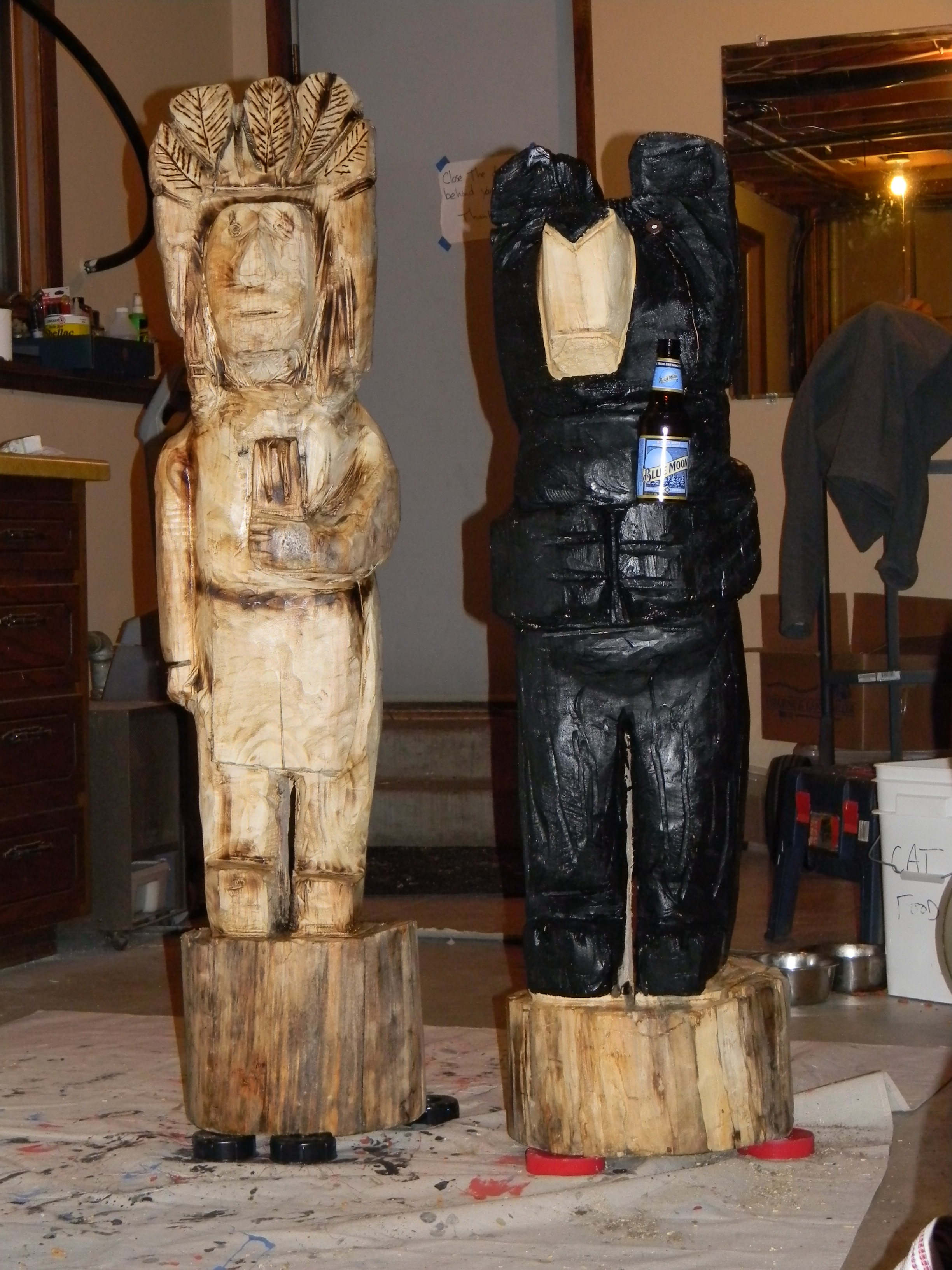 Chainsaw carving jason prom s shop creations